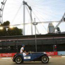 Senna en la Drivers Parade