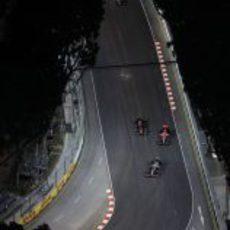 Vista aérea de una curva