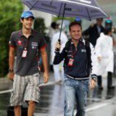 Senna y Barrichello