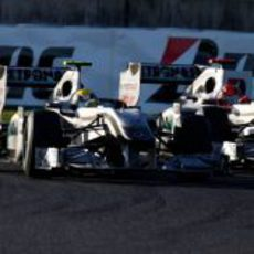 Rosberg y Schumacher