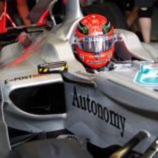 Schumacher en boxes