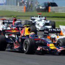 Webber pelea con Piquet