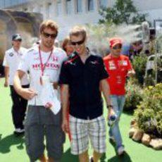 Button, Massa, Vettel y Kubica