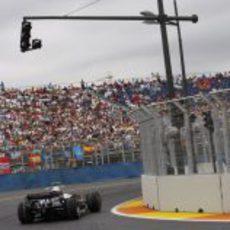 Nakajima durante la clasificación
