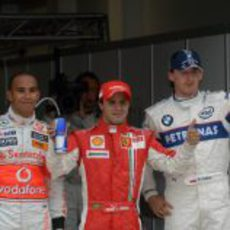 Kubica, Massa y Hamilton