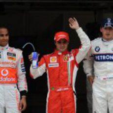 Los tres primeros de la clasificación