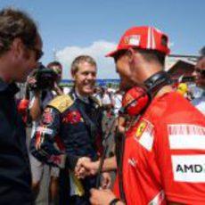 Schumacher, Vettel y Berger