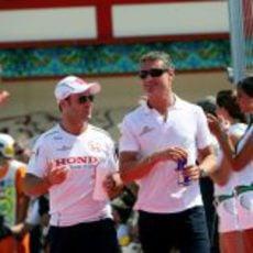 Coulthard y Barrichello