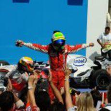 Massa celebra la victoria