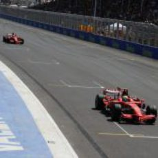 Massa y Raikkonen