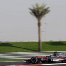 Senna durante la clasificación
