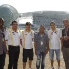 Los VIPs del equipo Renault
