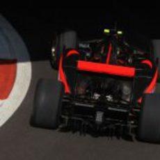 Hamilton sale del pit lane