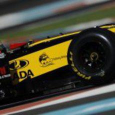 Robert Kubica tuvo un problema con un neumático