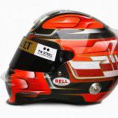 Vista lateral del nuevo casco de Kubica
