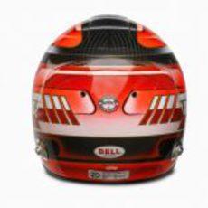 Vista posterior del nuevo casco de Kubica
