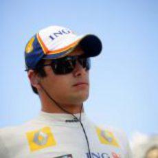 Piquet poco antes del inicio de la carrera