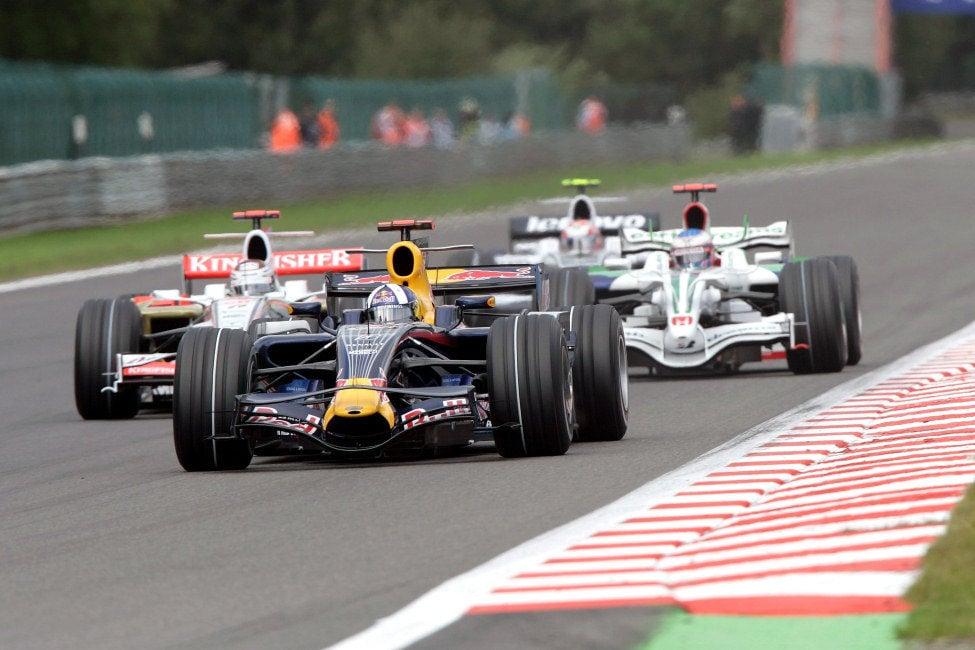 Coulthard en Spa