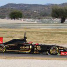 Kubica en Valencia con el Lotus Renault GP