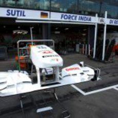 Alerón delantero del VJM04 en Australia