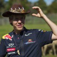 Vettel a lo 'Cocodrilo Dundee'