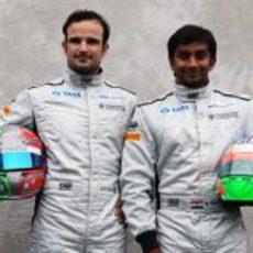 La alineación de pilotos de Hispania en la foto oficial