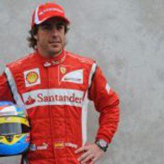 Foto oficial de Fernando Alonso para la temporada 2011