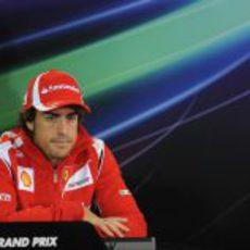 Fernando Alonso en la primera rueda de prensa de la FIA de 2011