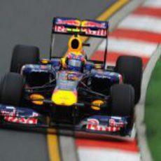 Webber, mejor tiempo en los libres 1
