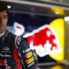 Webber concentrado durante los libres del viernes