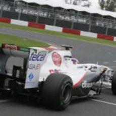 Parte trasera del Sauber C30 de Kobayashi