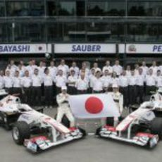 Foto de familia de Sauber F1 Team