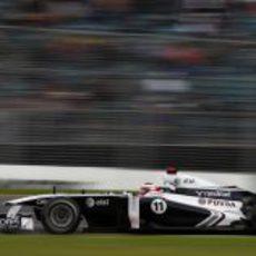 Rubens Barrichello rodando en Melbourne
