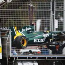 El T128 accidentado de Chandhok