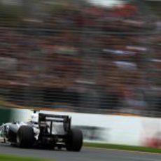 Pastor Maldonado durante la clasificación de Melbourne