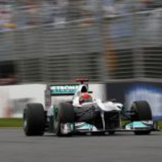 Michael Schumacher en la pista de Albert Park