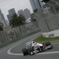 Pérez fue el debutante más rápido en clasificación