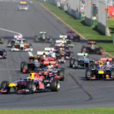 Salida del GP de Australia 2011