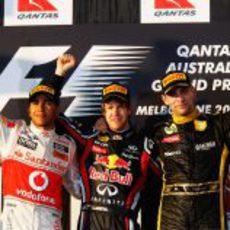 Los tres primeros del GP de Australia 2011