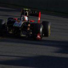 Vitaly Petrov camino al primer podio de su carrera en la F1