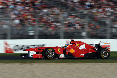 Fernando Alonso en la carrera de Albert Park