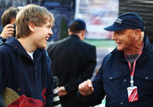 Vettel con Lauda