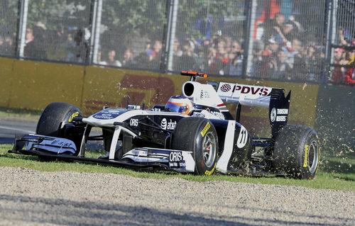 Rubens Barrichello por la hierba