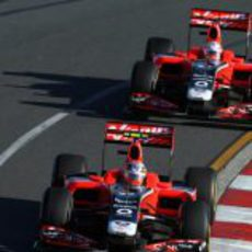 Los dos Virgin en el circuito de Albert Park