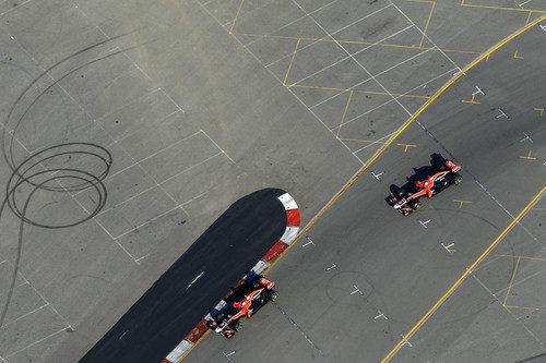 Los dos Virgin en Albert Park, desde el aire