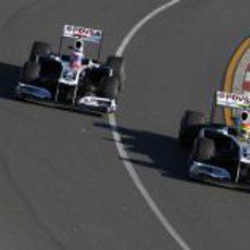 Los dos Williams rodando en Melbourne