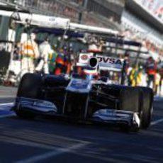 Barrichello sale de boxes