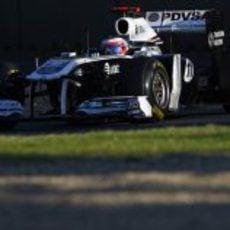 Rubens Barrichello rodando en Albert Park