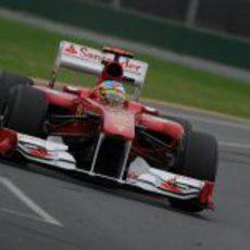 Fernando Alonso en los libres del GP de Australia 2011