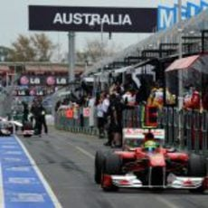 Felipe Massa a pista